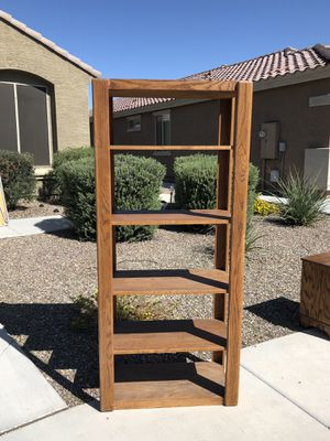 Oak wood shelving unit for Sale in Peoria, AZ