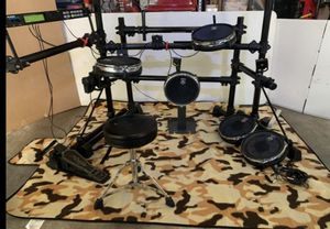 Alesis dm5 electric drums excelent condition, as is perfect to use as a complement of your set. 4 mesh drums, kick and hihat pedal,throne for Sale in Houston, TX