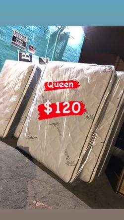 BAMBOO PILLOW TOP MATTRESSES ☎️📲 •10inches thick •same day delivery or pick up •twin $95 •Full $110 •queen $120 for Sale in Gardena,  CA