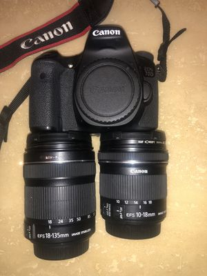Canon 70D digital camera with canon 10-18 mm lens and 18-135 mm lens for Sale in Miami, FL