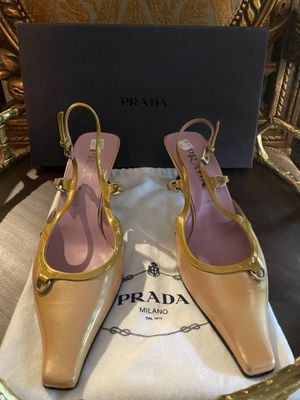PRADA Iridescent Pink/Gold Pointed Toe Heel for Sale in Spring, TX
