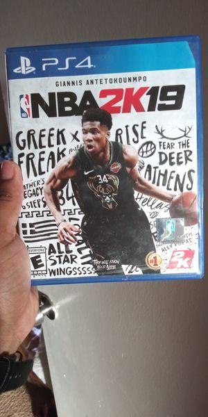 NBA 2K19 for PS4 for Sale in Atlanta, GA