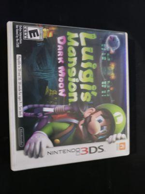 Luigi's Mansion Dark Moon for 3ds for Sale in Covina, CA
