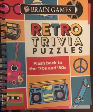 Retro Trivia Puzzles-Brain Games-Flashback to the 70's & 80's-New for Sale in Rowlett, TX