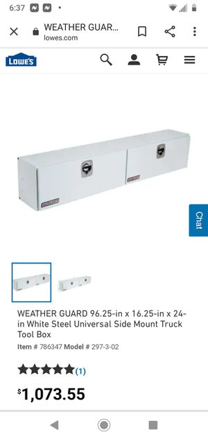Weather guard High side box for Sale in Hayward, CA