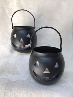 Jack-o-Lantern tealight candle holders (2) for Sale in Romeoville, IL