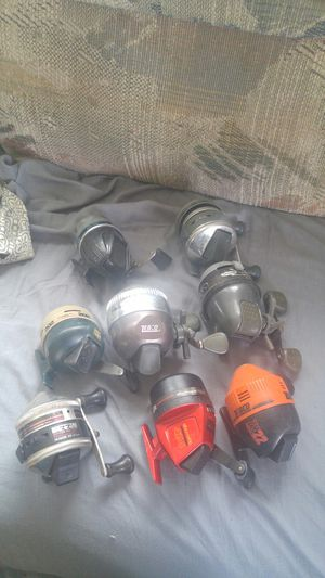 8 Fishing Reels- Push Button for Sale in Ashford, CT