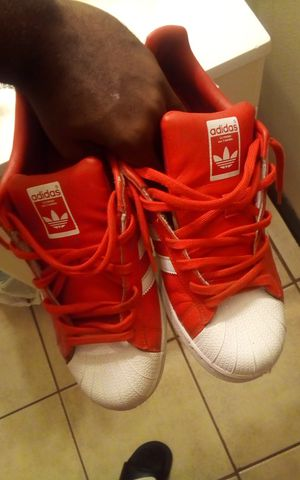 All red shell toe Adidas for Sale in Fresno, CA