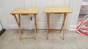 Wooden TV Trays/ Tables for Sale in Gretna, LA