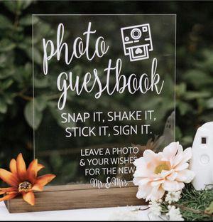 Photo guest book sign & Polaroid Camera (Instax mini 9) for Sale in San Diego, CA
