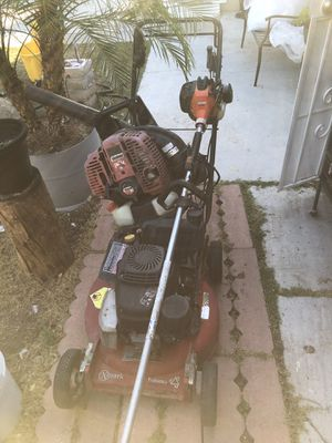 Lawnmower trimmer blower to start a small business it's a toro with Kawasaki motor and trimmer is Echo and the blower is shindawa working good I don' for Sale in Fontana, CA