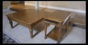 Oak Coffee and Side Table for Sale in Turlock, CA