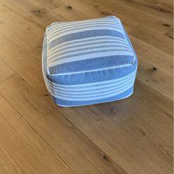 Blue/grey/white Pouf for Sale in Rocklin,  CA