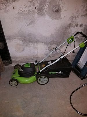 """Lawnmower 20"""" green works 3 in 1 mulch bagger sidedischarge. for Sale in South Hamilton, MA"""