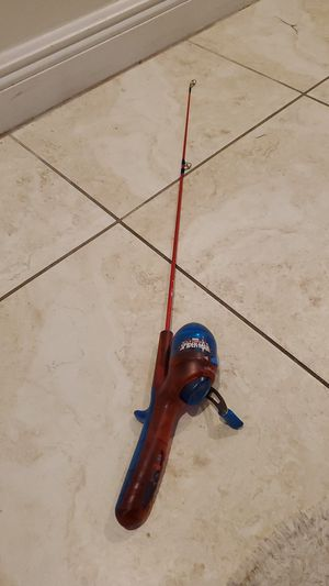 Spider-Man Fishing rod and reel combo baby pole for Sale in Fort Lauderdale, FL