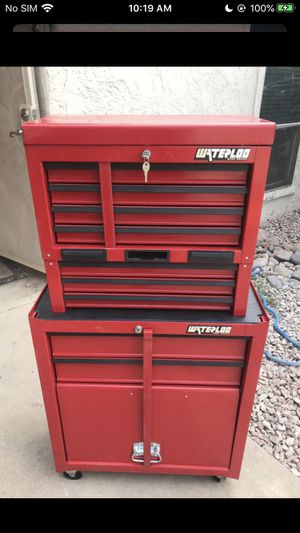 WATERLOO Tool Box!! Nice!! Like New TRIPLE Stack Toolbox With 9 Drawers and bottom on Casters!!!!! LOOKS Amazing and Functions Even BETTER!! for Sale in Phoenix, AZ