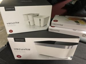 Vacuvita one-touch vacuum sealer with extra containers and sealer bags for Sale in West Hollywood, CA