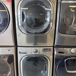 Lg Front Load Washer And Electric Dryer Set Used In Good Condition With 90day's Warranty for Sale in Washington, DC