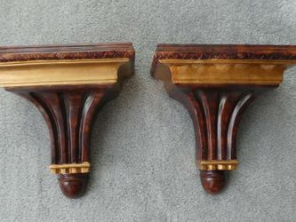 Set Of 2 Wall Scones Decorative Display Shelves for Sale in Fallston,  MD