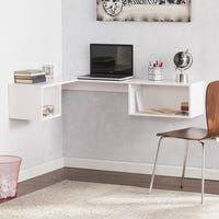 White floating wall mount corner desk- BRAND NEW for Sale in Dallas, TX