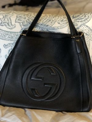 Black genuine leather bag hobo style, w duster bag and cards for Sale in Lemont, IL
