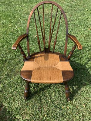 Flint furniture nyc antique wooden rocking chair for Sale in Short Hills, NJ