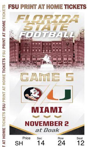 Miami Vs FSU for Sale in Hialeah, FL