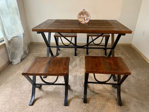 Table and Four Stools for Sale in Milton, WA