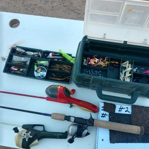 Three Rod And Reels And A Tackle Box for Sale in Gilbert, AZ