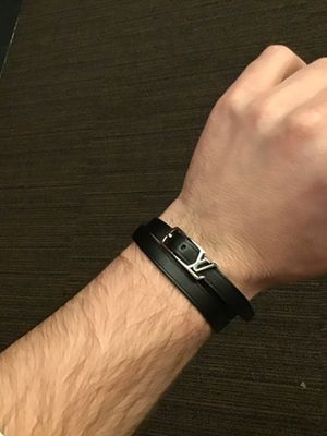 Louis Vuitton neogram leather bracelet double band authentic new $400 retail Gucci for Sale in Portland, OR