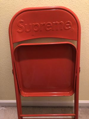 Supreme red metal chair for Sale in Gibsonton, FL