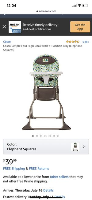 Baby Highchair for Sale in Mesquite, TX
