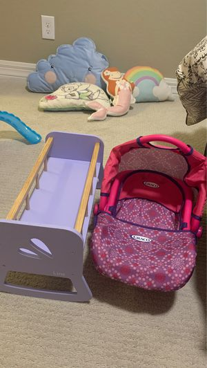Baby doll cradle and carrier for Sale in Phoenix, AZ