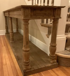Restoration Hardware DISTRESSED RECTORY LARGE CONSOLE TABLE for Sale in Denver, CO