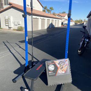 *RACK ONLY* Fuel Squat Rack + Bench Press + Blue Black RARE Home Gym + Pull Up Bar for Sale in Las Vegas, NV