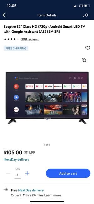"""Sceptre 32"""" roku tv with remote(just bought online)NEW for Sale in Angier, NC"""