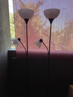 2 Floor lamps with two light bulbs for Sale in Phoenix, AZ