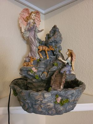 """Angel water fountain 21"""" tall resin for Sale in Keller, TX"""