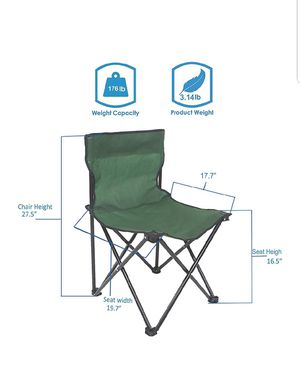 Summer ♡Portable Folding Camping Chair Outdoor Heavy Duty Table Chairs NEW from $9.9 for Sale in Silver Spring, MD