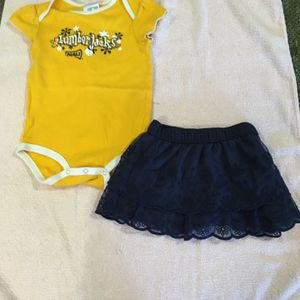 JUST LIKE NEW, NAU Northern Arizona University Onesie with matching skirt, 12 to 18 month size, worn once for Sale in Phoenix, AZ