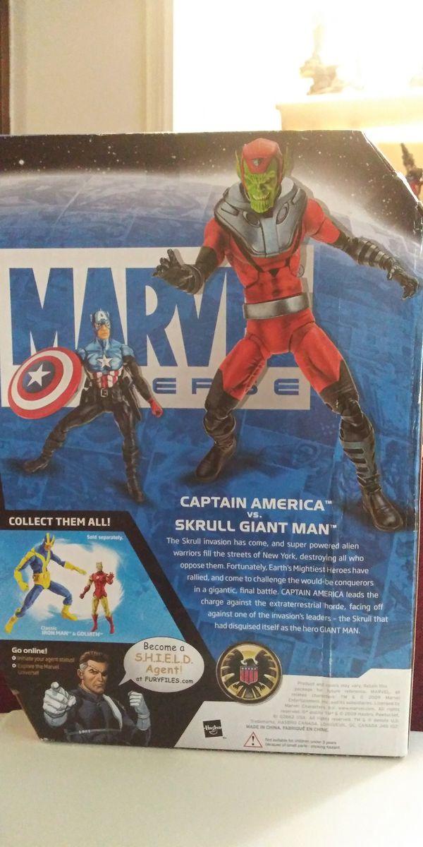 Marvel legends universe captain america vs. Skrull giant man