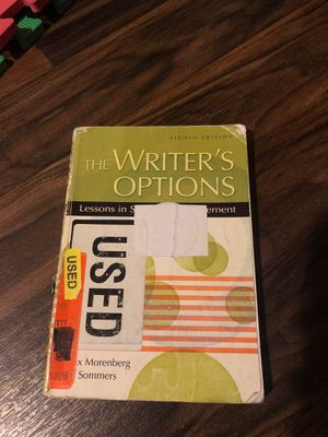 The Writer's Options eighth edition for Sale in Moreno Valley, CA