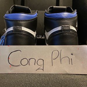 Jordan 1 Retro High Royal Toe (GS) - New NO Original Box ONLY Blue and Black laces for Sale in Fountain Valley, CA