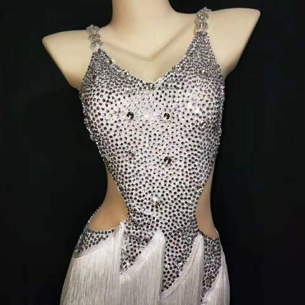 Silver Diamond Mesh Crystal Mini Sleeveless Strapy Custom-Made Outfit