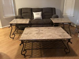 Ethan Allen REAL MARBLE TOP TABLE SET for Sale in Virginia Beach, VA