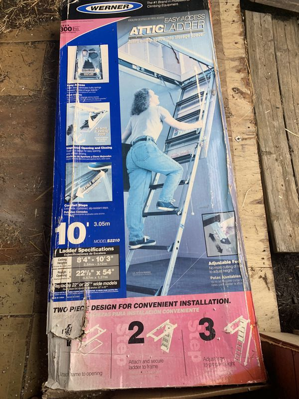 Werner attic ladder