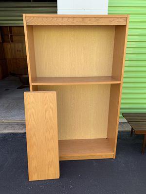 Pair of Light Oak Finish Bookshelves for Sale in Toms River, NJ