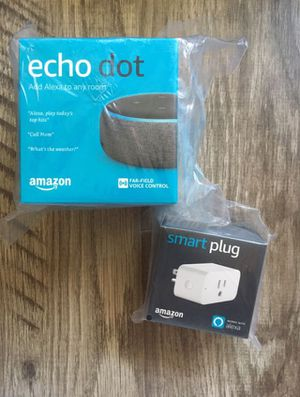 Echo dot 3rd gen with smartplug (new) for Sale in Los Angeles, CA