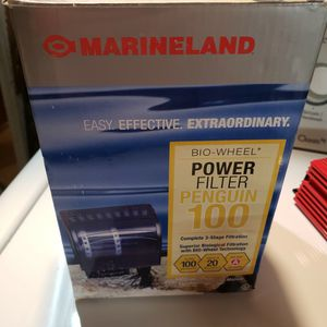 NEW. Marineland Penguin 100 biowheel fish tank filter for Sale in Everett, WA