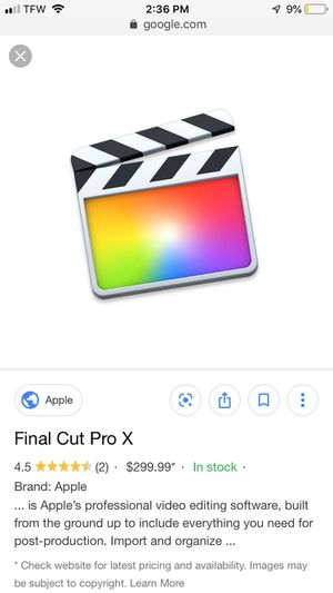 Final Cut Pro X for Sale in Columbus, OH